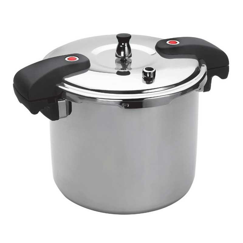 Olla a presión Lacor 71821 - serie Chef  20 litros - 28 cm - Olla a presión profesional de 20 litros en acero inoxidable 18-10 de la serie Chef de la marca Lacor, diseñada para satisfacer todas las necesidades tanto de los profesionales del sector de la hostelería como domesticas. Excelente resistencia a la corrosión, a los ácidos alimentarios y sales. Fondo termodifusor tipo sándwich de acero 18-10 y aluminio - acero 18-10 y fondo capsulado para cocinas de gas, eléctrica, vitrocerámica y de inducción - absorción total de las calorías -. Esta olla a presión ahorra hasta un 70% de tiempo respecto al sistema habitual de cocción. Ahorrará energía, hasta un 60% en platos de largo tiempo de cocción y entre un 30% y un 40% en platos de tiempo de cocción corto. Dimensiones cm: diámetro 28, altura 33. Volumen: 20 litros. ( ENVÍO GRATIS ) +( NO Envío Contra-reembolso ).- Ver Detalles -