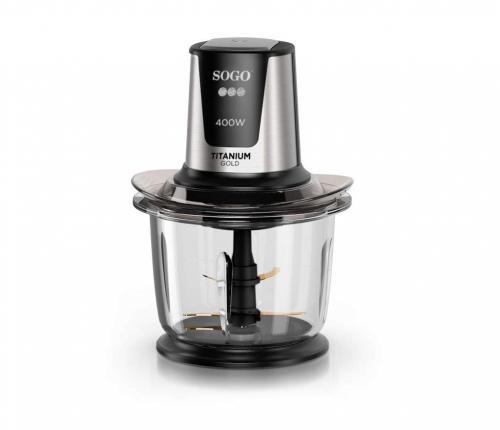 Picadora alimentos bol cristal Sogo SS-5260 - 1,5L - 400W