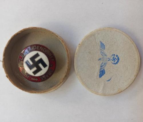 Pin del Partido Nacional Socialista alemán - 100% Original