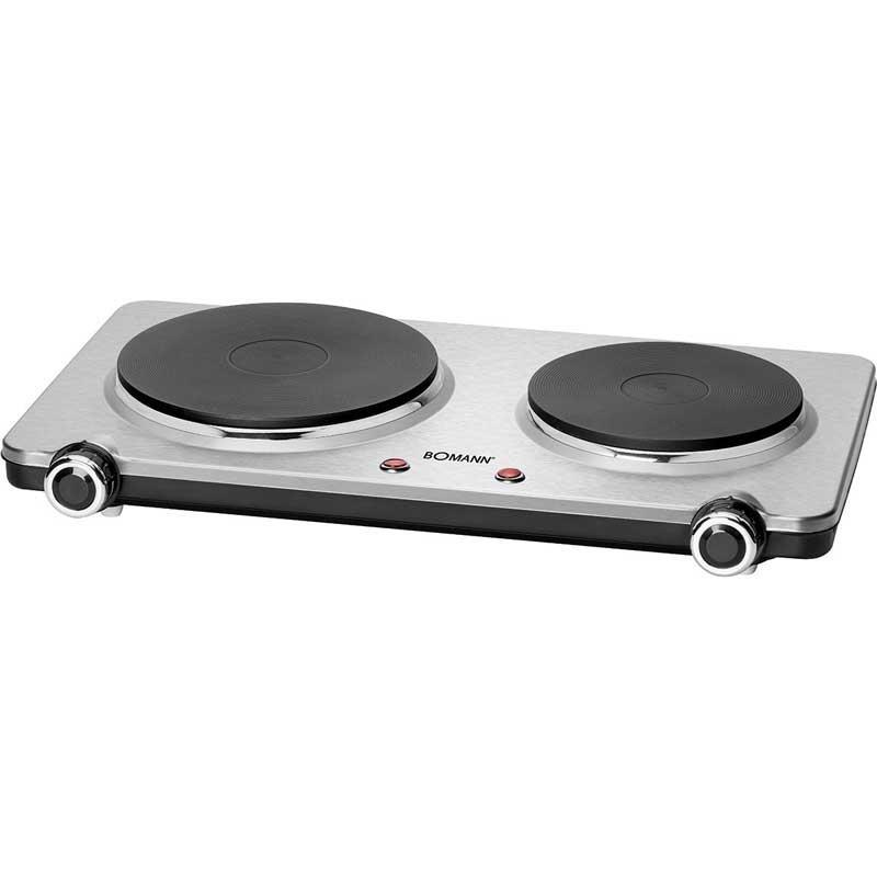 Placa de cocina eléctrica doble Bomann DKP5033