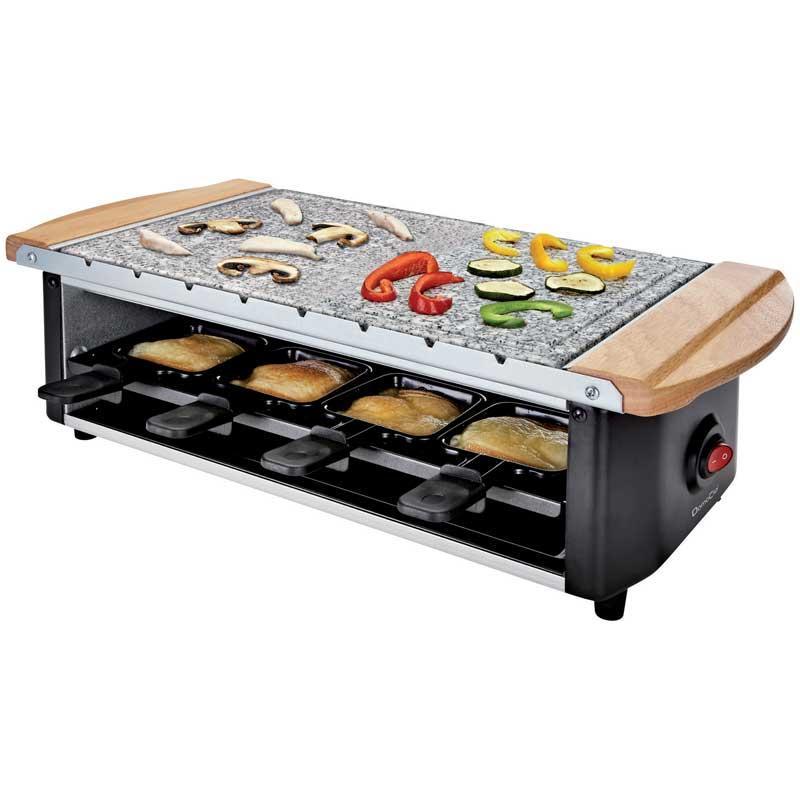 Raclette Grill piedra brochetas Domoclip DOM255 - para 8 personas