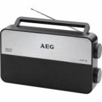 Radio transistor AEG TR4152 Fm-Am - Radio transistor de 2 bandas FM - AM. Portátil con diseño de acero inoxidable. AUX-IN: entrada de audio para conexión PC, portátil, teléfono, reproductor MP3, reproductor CD, etc. Conector para auriculares de 3,5 mm. Altavoz integrado y antena telescópica. Baterías 6 x 1,5 V (AA) - no incluidas. - Medidas Producto: 23,8 x 13,8 x 6,1 cm. - Color: Negro - Gris.- Voltaje: 1,5 V. +( NO Envío Contra-reembolso ).
