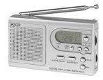 Radio de bolsillo portatil Sogo RD-SS-8815 - AM - FM Digital - Radios Digitales Portatiles Sogo con función reloj. Radio digital AM - FM con pantalla digital que muestra la frecuencia de radio, reloj LCD, entrada de auriculares, antena telescópica robusta y altavoces integrados. Despertador, con función despierta-con-radio. Pulsera. Stand de mesa. Alimentación DC: 2 pilas tipo AAA no incluidas.