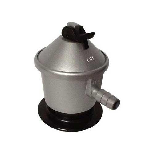 Regulador gas 50gr - presion 50 MBAR - Caudal 2,5 kg/h - Regulador de gas 50 grs, presión nominal: 50 MBAR. Caudal garantizado: 2,5 kg/h, tipo de gas: butano / propano, conexión de salida: tetina, color de la tapa: azul marino, UNE EN 12864: marca N, aplicaciones: aparatos industriales y hostelería. Imagen orientativa, puede variar a criterio del Fabricante