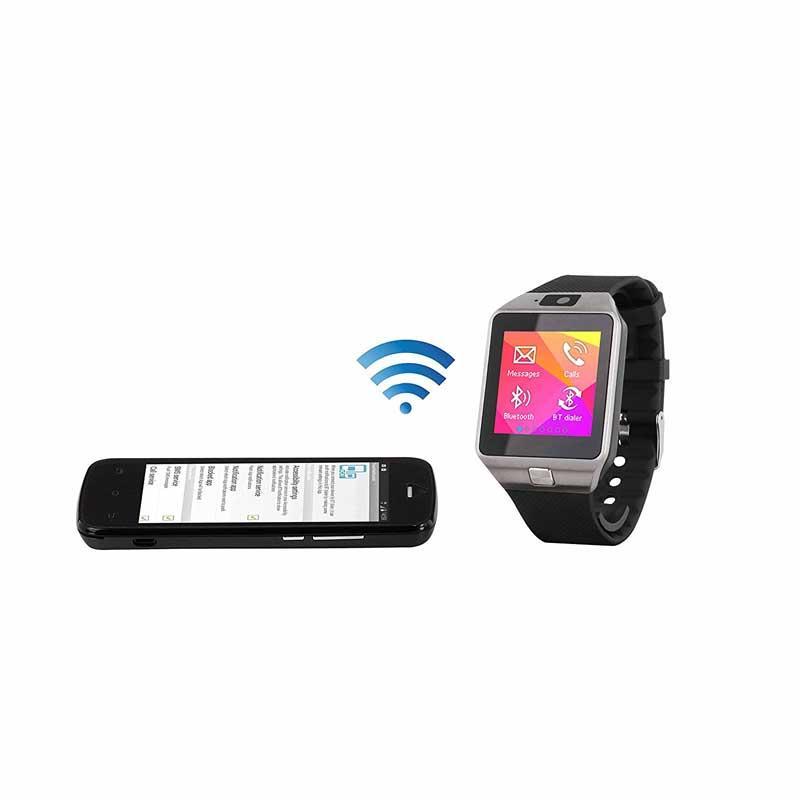 Reloj inteligente Clipsonic TEC589 - Bluetooth - Ranura tarjeta - Reloj inteligente con inserto tarjeta SIM, compatible IOS y Android, en Bluetooth ® permite administrar sus llamadas, sincronizar sus contactos, seguir su actividad al diario - podómetro, calorías quemadas, calidad del sueño, etc. -, escuchar su música, funciones alarma, anti-pérdida, calculadora, cronómetro y calendario, la aplicación gratuita Android también le permite recibir sms, leer sus antiguos mensajes, recibir sus notificaciones y controlar la cámara de fotos de su reloj insertando una tarjeta de memoria, el funcionamiento con tarjeta SIM le permite recibir y emitir sus SMS sobre Android e IOS, emplazamiento tarjeta de memoria hasta 32Go, pantalla 1,54
