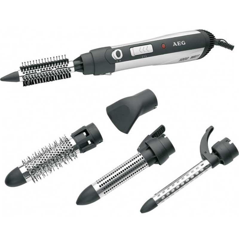 Rizador - Tenacillas - Secador pelo AEG HAS 5582 - 1000w - Rizador - Tenacillas - Secador AEG de 1000w 3 en 1, cepillo rizador, tenacillas y secador de pelo. Incluye tres accesorios intercambiables, cepillos de distinto grosor para un peinado acorde al tipo de pelo y longitud. Alimentación eléctrica: 230v, 50hz. Potencia: 1000w. Color: negro - plata.