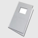 Carpeta UNIBIND Steelbook Ventana A4 Grafito -10 unidades - Carpeta rigida tipo libro Unibind Steelbook con ventana. Lomo de acero y color grafito, tamaño A4 vertical - Especifique el grosor en DETALLES -