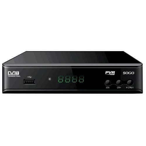 Receptor Digital Terrestre TDT Sogo SS-4420 - Alta Definición HDTV - Receptor TDT de Alta Definición compatible con : MPEG-4 / H.264 / 1080p y emisiones TDT2 estándar compatible con Televisores Full HD y HD Ready. HD DVB-T2 es técnicamente más avanzado que DVB-T HD normal. DVB-T2 es capaz de adaptarse a los cambios futuros en la emisión de una mejor manera en comparación con la DVB-T HD normal. - Función TimeShift –¡no se pierda sus programas de TV!. - Puede grabar sus programas favoritos en un disco USB o disco duro externo hasta 4 TB (Función PVR). - Puede pausar o retardar sus programas en modo TimeShift por que mientras se hace esto se graba en la memoria USB ¡!. - Emisiones de TV soporta 480i / 576i /480p / 720p / 1080i / 1080p lineas. - Decodificador de video soporta: ISO/IEC 11172-2 MPEG1, ISO/IEC 13818-2 MPEG2 MP@HL, ISO/IEC 14496 MPEG4 compliant. - Support SP@L3 to ASP@L5, ISO/IEC 14496-10 AVC high profile@level 4.1 /main profile@level 4.1 7. - Decodificador Audio: MPEG1, MPEG2 , AAC LC, HE-AAC. v1/V2 (2-CH). - Formatos de Fotos compatibles: JPEG,BMP. - Formatos de Audio compatibles: MP3, ACC. - Formatos de Video compatibles: MPEG1, MPEG2, MPEG4, H.264, MP4, TS, AVI, MKV. - Menús en pantalla y sub-títulos en multi-idiomas. -  Memorización del canal después de apagar la unidad. - Guía electrónica de programas EPG y Teletexto. - Frecuencia de entrada: 177-230 MHz (VHF), 474-866 MHz (UHF). - Con Mando a Distancia / Control parental. - Modos de búsqueda manual/automática. - Margen dinámico de pantalla ancha 16:9 y normal 4:3. - Conexiones: USB / HDMI / 3RCA CVBS/L/R SCART. - Voltaje / Frecuencia: 220-240 V ~ 50 Hz. - Potencia de Consumo:, < 6 W. - Consumo en modo Standby: < 0,5 W.