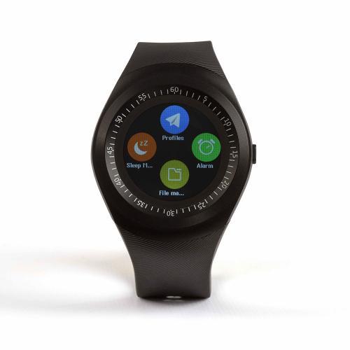 Reloj inteligente Clipsonic TEC601 - Bluetooth - Ranura tarjeta - Reloj inteligente con inserto tarjeta SIM, compatible IOS y Android, en Bluetooth ® permite administrar sus llamadas, sincronizar sus contactos, seguir su actividad al diario - podómetro, calorías quemadas, calidad del sueño, etc. -, escuchar su música, funciones alarma, anti-pérdida, calculadora, y calendario, la aplicación gratuita Android también le permite recibir sms, leer sus antiguos mensajes, recibir sus notificaciones y controlar la cámara de fotos de su teléfono, el funcionamiento con tarjeta SIM le permite recibir y emitir sus SMS sobre Android e IOS, emplazamiento tarjeta de memoria hasta 32Gb, pantalla 1,22