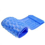 Teclado PC Flexible Impermeable azul Ultrafino - 3 mm - Teclado PC Flexible Impermeable color azul y ultrafino de 3 mm.