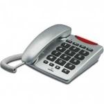 Telefono Brondi Bravo 10 - teclas grandes y visibilidad llamada - El teléfono Brondi Bravo 10 color Plata de teclas grandes le aporta calidad en sus llamadas y tiene: Función manos libres. Indicador luminoso de llamada - visibilidad  y altavoz manos libres. Lista de contactos con 10 memorias - 2 pulsaciones - y 3 memorias - 1 pulsación. Alto volumen para la conversación y de tono de llamada ajustable. Compatible con equipos para personas con discapacidad auditiva y visual. Teclas grandes, ideal para personas mayores o con problemas de vista. Marcación, decádico y multifrecuencia. Instalable en pared. Disponible en color Titanio - gris oscuro.