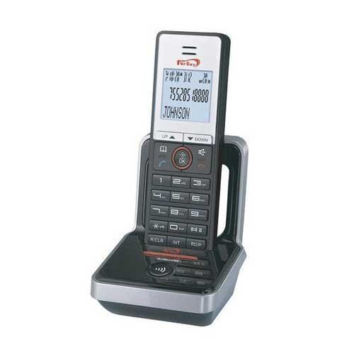 Teléfono inalámbrico Fersay DECT1010 - modo ECO - Teléfono inalámbrico Fersay con tecnología GAP DECT. ECO DECT gestión inteligente de potencia de la señal. Pantalla LCD de 3 lineas con menú intuitivo. Selección de 10 tonos de timbres. Agenda, lista de contactos: 50 nombres y números. Memoria de las últimas 10 llamadas entrantes. Altavoz, manos libres, capacidad de lista de rellamadas 50 entradas. Fecha y hora en la pantalla. Función despertador. Función bloqueo de teclado. Función mute - silencio-. Función contestador auto/manual. Función de pre-marcado y edición. Función de re-llamada, conferencia múltiple y pausa. Identificador de llamada entrante. Gestión de llamadas: llamadas perdidas, llamadas recibidas. Menú disponible en 16 idiomas: Español, Portugués, Ruso, Turco, Griego, Ucraniano, Polaco, Húngaro, Sueco, Holandés, Danés, Noruego, Inglés, Alemán, Francés e Italiano. Un máximo de 5 terminales pueden ser registrados a la misma base y un máximo de 4 bases por teléfono. 5 tonos de llamada. Volumen ajustable de timbre y audio. Estándar: DECT GAP / hasta 4 terminales emparejados