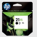 Cartucho Inyección Tinta Negro HP 21 XL - Cartucho Tinta Negro HP 21 XL. Cartucho de alta capacidad. Tinta para impresoras multifunción y fax: HP Deskjet 3920 / D1360 / Officejet 4315 / PSC 1402 / FAX 3180...
